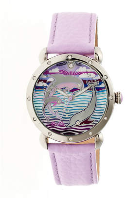 Mother of Pearl BERTHA Bertha Womens Estella Mother-Of-Pearl Laveneder Leather-Band Watchbthbr5103