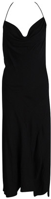 Joseph Black Crepe Cross Back Sleeveless Naomi Dress L