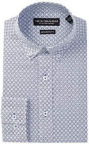 Nick Graham Long Sleeve Modern Fit Printed Dress Shirt