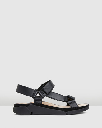 Clarks Women's Black Flat Sandals - Tri Sporty - Size One Size, 3 at The Iconic