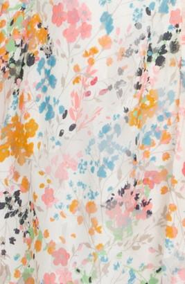 Rachel Roy Floral Print Handkerchief Hem Dress