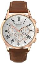 Sekonda Chronograph Style Brown Leather Strap Mens Watch