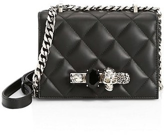 Alexander McQueen The Small Quilted Jewelled Leather Satchel