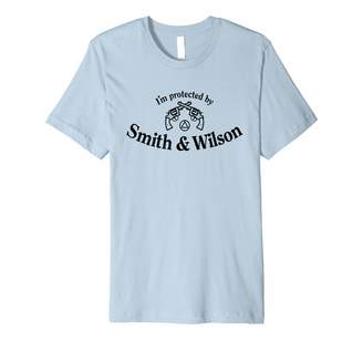 Wilson 12steptees 'I'm Protected by Smith & Wilson' - Funny AA T-Shirt