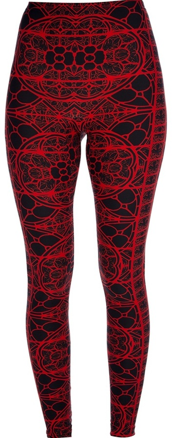 Alexander McQueen stained glass legging