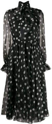 Dolce & Gabbana Sheer Polka Dot Dress