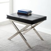 Inspire Q Southport Black Bonded Leather 22-inch Metal Bench