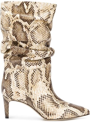 Paris Texas Snake-Effect 65mm Ankle Boots