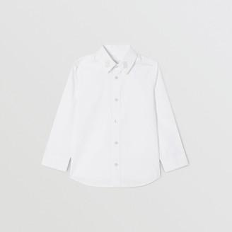Burberry Childrens Monogram Motif Stretch Cotton Poplin Shirt