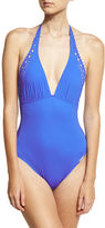 Lise Charmel Ajourage Couture Halter One-Piece Swimsuit, Black