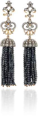 Anabela Chan Midnight 18K Black Gold Vermeil Onyx Diamond Earrings