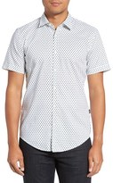 BOSS 'Ronn' Slim Fit Prink Short Sleeve Sport Shirt