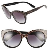 Dolce & Gabbana Women's 56Mm Cat Eye Sunglasses - Tort Black
