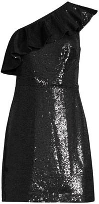 MICHAEL Michael Kors One Shoulder Sequin Mini Dress