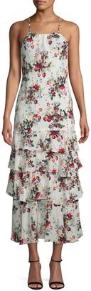 Marissa Webb Everleigh Tiered Floral Silk Dress