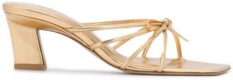 BY FAR Marissa metallic sandals