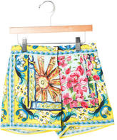 Dolce & Gabbana Girls' Portofino Print Shorts w/ Tags