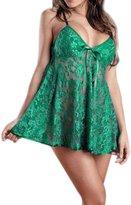 Rokou Women's Sexy Lingerie Lace Nightwear Sleepwear Underwear Sheer Babydoll