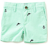 Class Club Little Boys 2T-7 Embroidered Swordfish Shorts