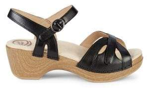 Dansko Season Leather Clog Sandals