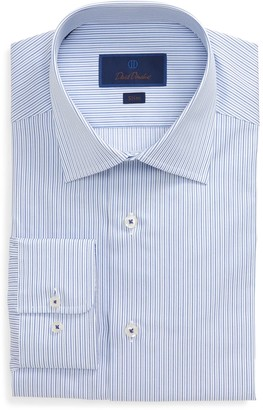 David Donahue Slim Fit Stripe Dress Shirt