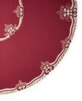 "Sferra Ellino 90"" Round Tablecloth & 12 Napkins"