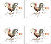 Cala Home Watercolor Roosters Table Mats (Set of 4)