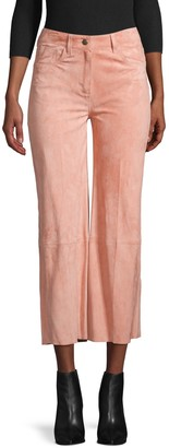 RED Valentino Cropped Flared Suede Pants