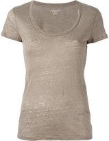 Majestic Filatures scoop neck T-shirt - women - Linen/Flax - III