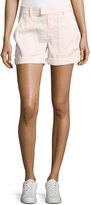 Vince Linen-Blend Patch-Pocket Shorts