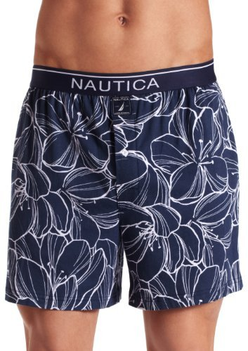 Nautica Men's Knit Ink Floral Boxer
