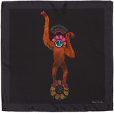 Paul Smith Black Mainline Monkey Pocket Square