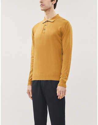 Oscar Jacobson Ruben cotton-knit polo shirt