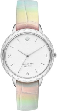 Kate Spade Women's Morningside Iridescent Leather Strap Watch 38mm