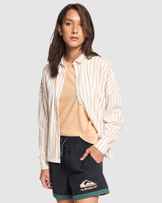 Quiksilver Womens Printed Jersey Short Sleeve Shirt