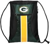 Forever Collectibles Green Bay Packers Striped Zipper Drawstring Backpack