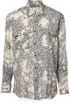 Saint Laurent Repaired printed shirt - women - Cotton - S