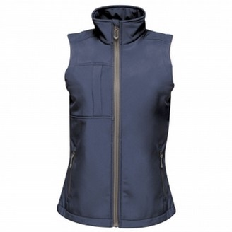 Regatta Womens/Ladies Octagon II 3 Layer Printable Softshell Bodywarmer (14 UK) (Navy)