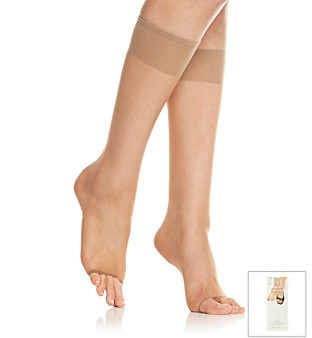 Berkshire Natural Toeless Knee-High Stockings