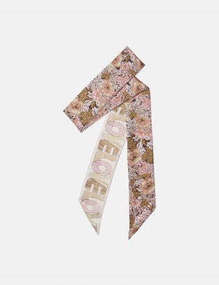 Coach Love Nostalgic Blossom Print Silk Skinny Scarf