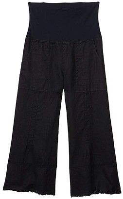XCVI Garni Crop Pants in Linen (Maritime) Women's Casual Pants