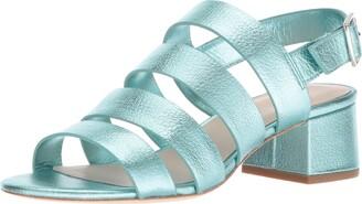 Loeffler Randall Women's Mavis (Foiled Lambskin) Heeled Sandal