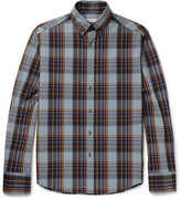 Michael Bastian - Slim-fit Button-down Collar Checked Cotton Shirt