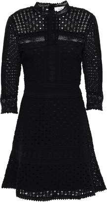 BA&SH Guipure Lace Cotton Mini Dress