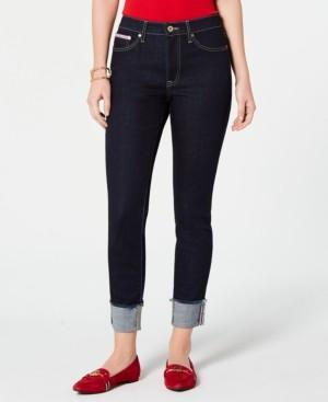 Tommy Hilfiger Raw-Cuff Skinny Jeans