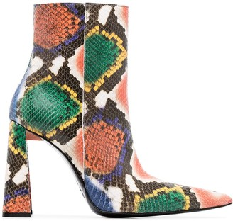 Area Snakeskin-Effect 90mm Ankle Boots