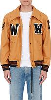 Off-White Men's Appliquéd Wool-Blend Varsity Jacket-TAN