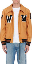 Off-White Men's Appliquéd Wool-Blend Varsity Jacket