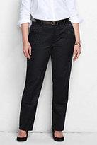 Classic Women's Plus Size Mid Rise Straight Leg Chino Pants-Dark Maroon