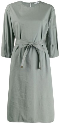 Peserico belted shirt dress